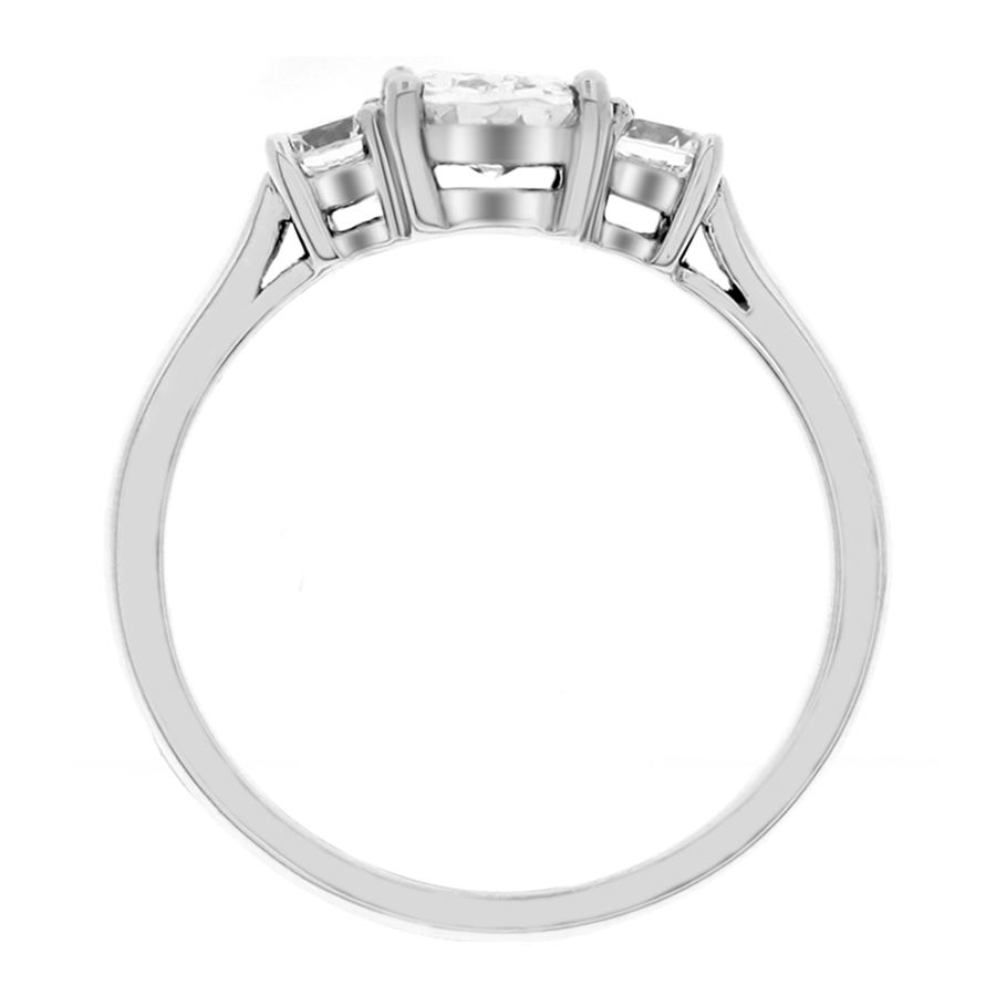 solitaire low profile platinum under wedding rings cathedral surprise side pave dia with