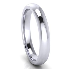 Picture of 3.0mm Platinum Half Round Comfort Fit Band