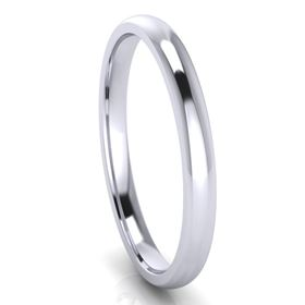 Picture of 2.0mm Platinum Half Round Comfort Fit Band