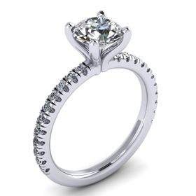 Picture of 4 Prong Solitaire with one row split prong set