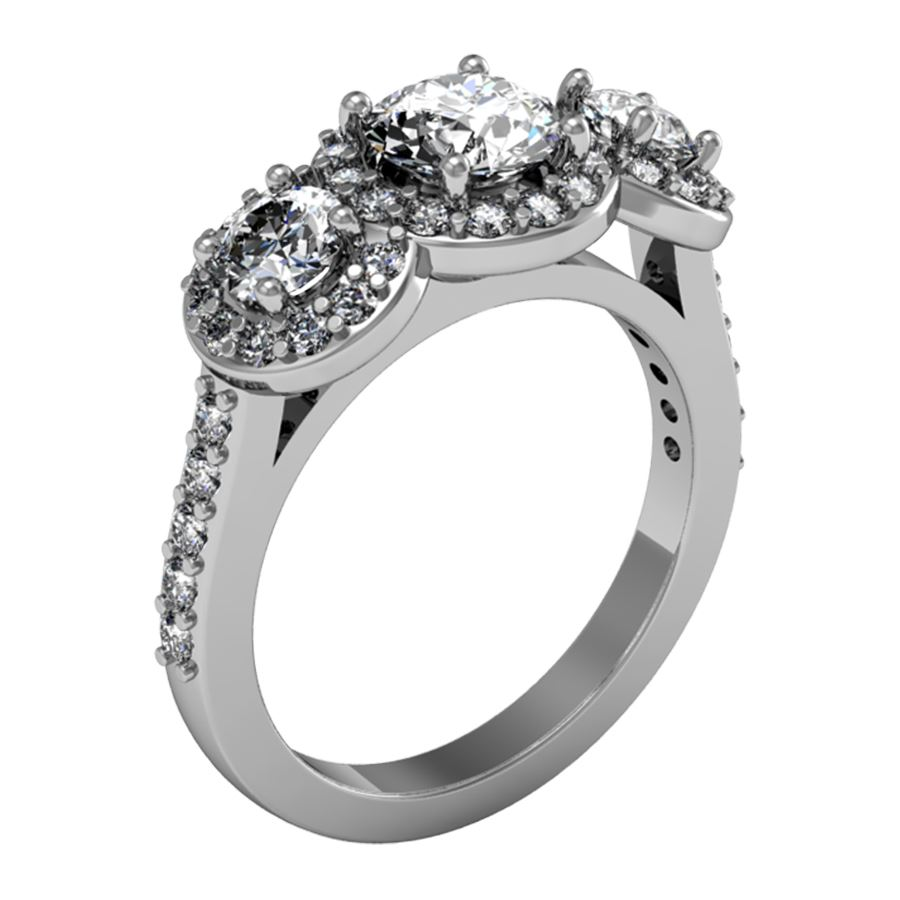 wedding diamonds shared settings top rings set single sale engagement lab grown diamond white prong created ring gold