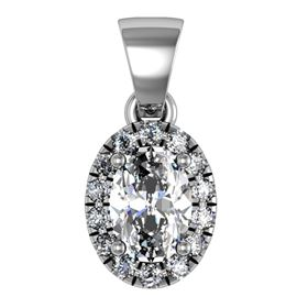 Picture of Split prong oval outline pendant