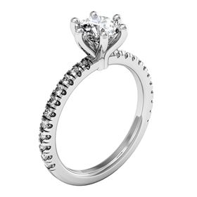 Picture of 6 Prong Solitaire with one row split prong set